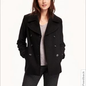 J. Crew• black wool peacoat